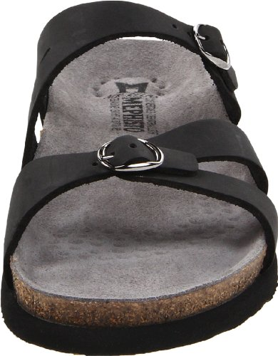 Mephisto Womens Hannel Nubuck Sandals Black