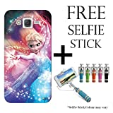 Hamee Disney Frozen Princess Licensed Hard Back Case Cover For iPhone Samsung Galaxy On7 / On 7 Pro Cover with Free Selfie Stick Monopod – Combo 15