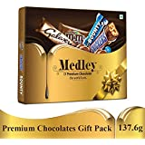 SNICKERS Medley Assorted Chocolates Gift Pack (Snickers, Bounty, M&M's, Galaxy), 137.6g