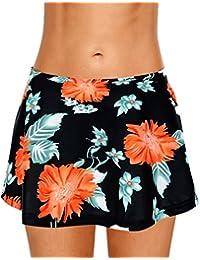 969813bad5a6e0 Dolamen Donna Pantaloni da Nuoto Gonna, 2018 Costumi da Bagno Donna  Pantaloncini Bikini Costume Intero
