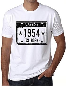 The Star 1954 is Born Hombre Camiseta Blanco Regalo De Cumpleaños