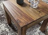 WOHNLING Couchtisch Massiv-Holz Sheesham 45 cm breit Wohnzimmer-Tisch Design dunkel-braun Landhaus-Stil Beistelltisch Natur-Produkt Wohnzimmermöbel Unikat modern Massivholzmöbel Echtholz rechteckig - 5