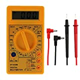 JoyFan/LCD Multifunktional Digital Voltmeter Amperemeter Ohm Multimeter mit Test Führt Gelb Gelb