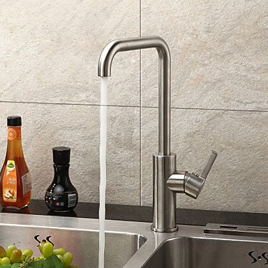 bobo Contemporary Stainless Steel Kitchen Faucet (Brushed Chrome Finish)