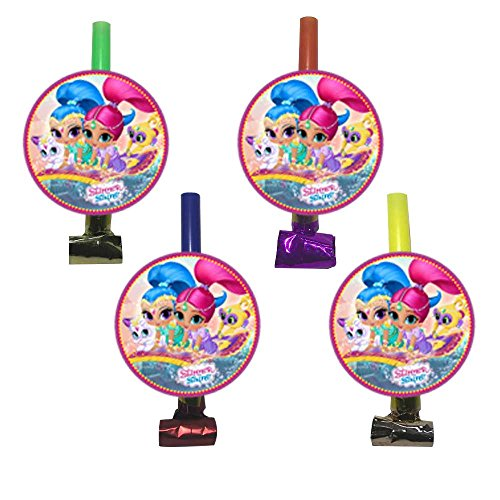 PARTY PROPZ SHIMMER & SHINE BLOWOUT / NOISE MAKER SE OF 12/ SHIMME AND SHINE THEME PARTY