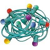 Tibelec 166990 Guirlande Extérieure Lumineuse LED Plastique  0,5 W B22 Multicolore 10 m 10 Pièces