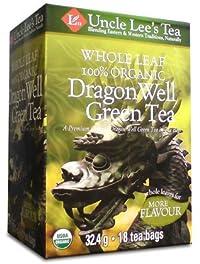 Whole Leaf, Organic Dragon Well Green Tea-18 bags Brand: Uncle Lees Tea