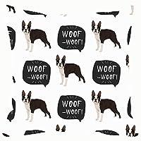 Qian Mu888 Fashion decorative pillowcase dog boston terrier seamless colorful animals wildlife pet Animals Wildlife pet 18 * 18IN
