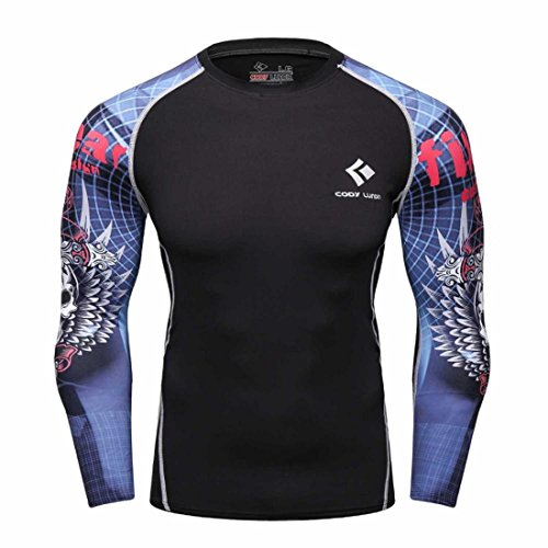 Men's Long Sleeves Base Layer Weight Lifting Tee Shirts style 5