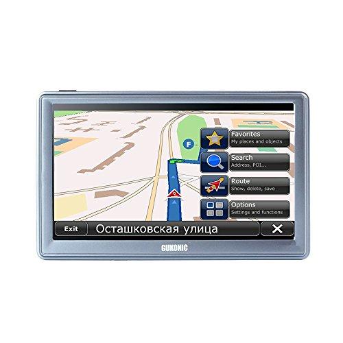 """GUKONIC 741 7"""" GPS Navigation Coche Camión Cámara de Velocidad Radar Asistencia de Carril con Licencia Completo Europeo Mapas Y Gratis Toda la Vida Actualizaciones"""