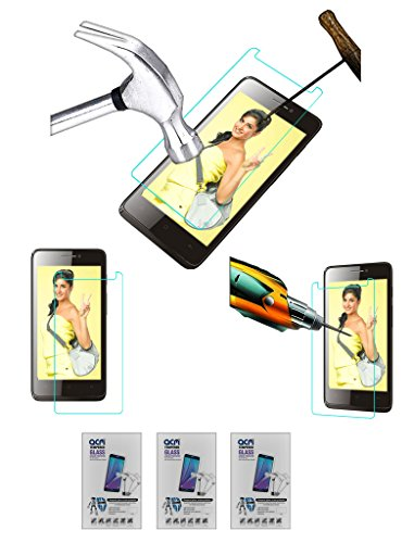 Acm Pack of 3 Tempered Glass Screenguard for Spice Virtuoso Pro+ Mi-492 Screen Guard Scratch Protector  available at amazon for Rs.279