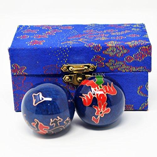 Feng Shui salute - sfere cinesi, motivo: drago e fenice e, 3,8 cm (1,5') '), larghezza F1117 Mxsabrina Bracciale in corda, colore: rosso