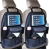 2x Auto Rückenlehnentasche DELUXE Rücksitztasche Spielzeugtasche