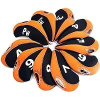 10pcs neopreno Golf Club cabeza cubierta cuña de hierro protectora funda para Titleist, Callaway, Ping, Taylormade, Cobra, Nike, naranja