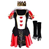 Gazechimp Ensemble Femme Costume Reine de Coeur en Polyester Déguisement pour Cosplay