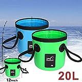 Auto Klappfässer Zusammenklappbarer Eimer Multifunktionale Faltwassertank Folding Fässer zum Angeln, Camping, Wandern & Fahren (schwarz 20L)