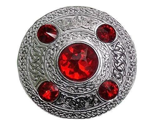 Schottische Tartan-plaid (schottisch Kilt Fly Plaid Brosche Stein rot 4