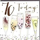 Belly Button Designs Paloma bezaubernde Glückwunschkarte zum runden 70. Geburtstag mit Prägung, Folie und Kristallen BB414