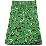 ewtretr Asciugamani Viso-Mani, Storybook Christmas Candy Canes & Peppermints Multi-Purpose Microfiber Towel Ultra Compact Super Absorbent And Fast Drying Sports Towel Camping, Gym