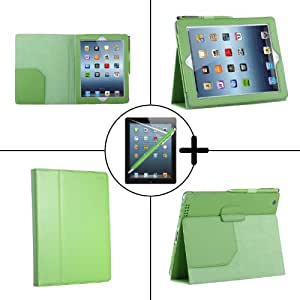 TeckNet Apple iPad 4 Case, Smart Cover PU Leather with Flip Stand & Lifetime Guarantee + Included 1 Screen Protector and Stylus Pen For Apple iPad 2 iPad 3 iPad 4 - Lifetime Warranty