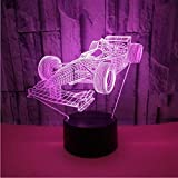 Kreative visuelle Stereo-Lampe 3d führte dekorative Persönlichkeit Rennwagen 3d Lampe Wohnzimmer Atmosphäre Laterne Freund Geschenk