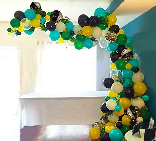 PuTwo Globos 105 Piezas Látex Globos de Helio Globos de Cumpleaños Globos Fiestas Decoraciones Suministros para Decoración Dino Jungle Fiesta di Aloha Hawaiano Tropical