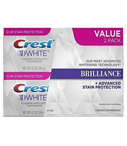 3d White Crest 3d (Crest 3D Brilliance Whitening, 8.2 oz (2 Pack - 4.2 oz each) by crest)
