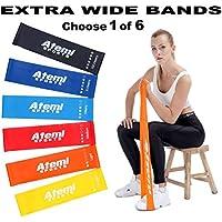 Atemi Sports Bandas de Resistencia   Extra Ancho Mini bucles de Resistencia con guía de Ejercicio   Bandas de Ejercicio para Entrenamiento de Fuerza y pérdida de Peso, 2 Light