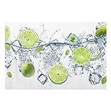 Bilderwelten Spritzschutz Glas - Erfrischende Limette - Quer 2:3, Größe HxB: 40cm x 60cm