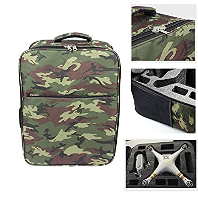 Togather® Camouflage Backpack Carrying Case Portable Carrying Bag for Drone DJI Phantom 2 & Phantom 3