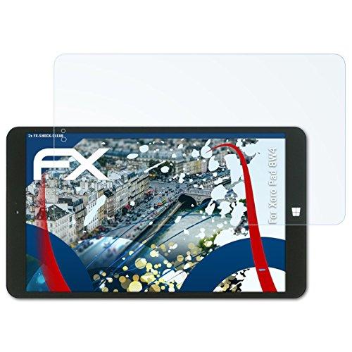 atFolix Schutzfolie kompatibel mit Xoro Pad 8W4 Panzerfolie, ultraklare & stoßdämpfende FX Folie (2X)