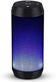 Bluetooth Speaker Wireless Speaker Music Box Portable with LED Lights Build-in Mic for Outdoor, Home & Tra