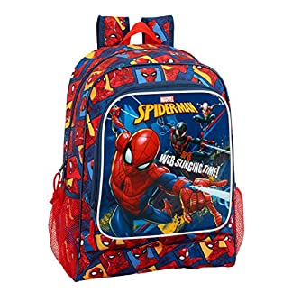 "51MoQIhcJsL. SS324  - Safta Mochila Escolar Spiderman ""Slinging Time"" Oficial 320x140x420mm"