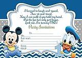 10, a forma di Minnie di Topolino, Paperino biglietti d'invito per feste di compleanno bambini, motivo: margherite