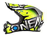 O'Neal 3Series MX Helm Radium Neon Gelb Grau Hi-Viz Motocross Enduro Quad Offroad Cross, 0623-62, Größe XL (61/62 cm)