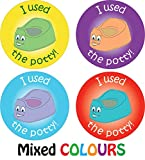144 Potty Training Reward Stickers Boys Girls Parents Toilet Learning Award