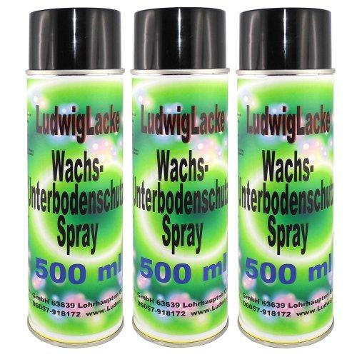 3 x 500ml Spraydose Wachs Unterbodenschutz