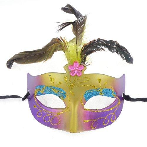 Nylon Selbst Krawatte String Stil Kunststoff Maskerade-Masken-Farbe sortiert