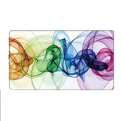 Hochwertige Farbtinte Kunstspiel Mauspad Laptop Maus Geschwindigkeit Version Präzision Kragen Gummi Rutschfesten Teppich 400 * 900 * 4 Mm -