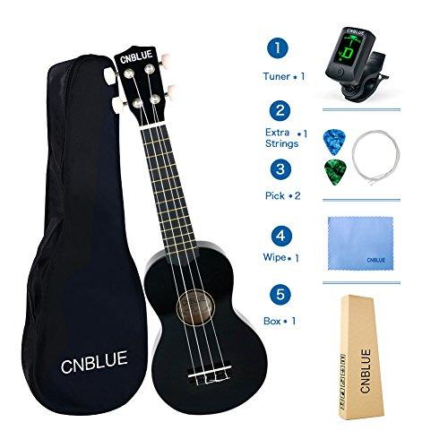 """23/"""" Ukulele Walnuss Holz Hawaii Gitarre Musikinstrument mit Stimmgerät Tasche A+"""