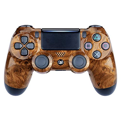 Controller Monkeys - PS4 Oberschale für JDM-040 /-041 /-030 /-050 /-055 Controller - Glänzend Chrom (Hard Wood) - Sony Hard-faceplates