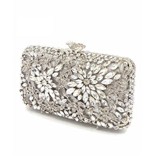 Borsa Da Sera Di Lusso Diamante Borsa Di Diamante Della Moda Femminile Silver