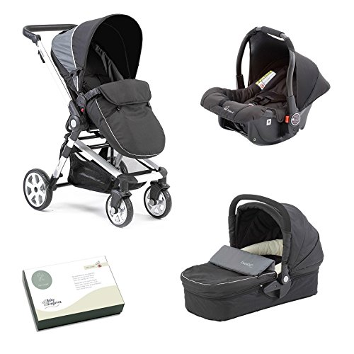 Beep Twist Travel System 3 in 1 prams with car seat (Black) 51MoT5bJjwL