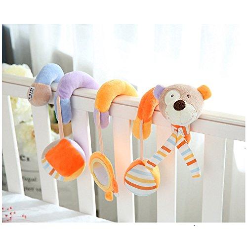 Infant Baby Aktivität Hanging Spiral Bett Musikalische Geschenk Spielzeug mit Spiegel und Bell für Kinderwagen Auto Sitz Kinderbett Drehmaschine Kinderbett Kinderwagen Kinderwagen