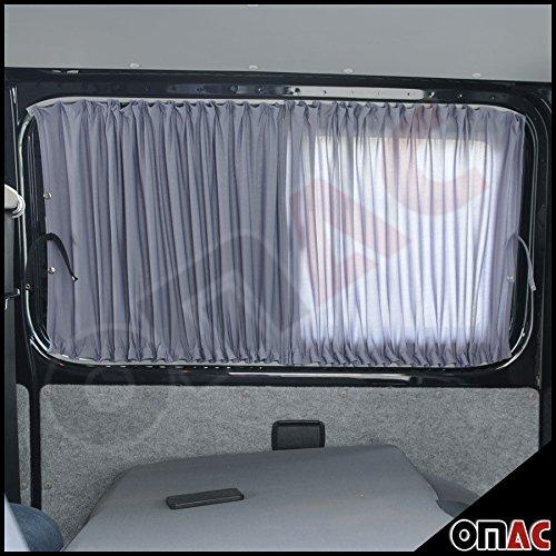 Preisvergleich Produktbild Sonnenschutzgardine MAß GARDINEN VORHÄNGE T5 TRANSPORTER 03 - 15 Kurzer Grau