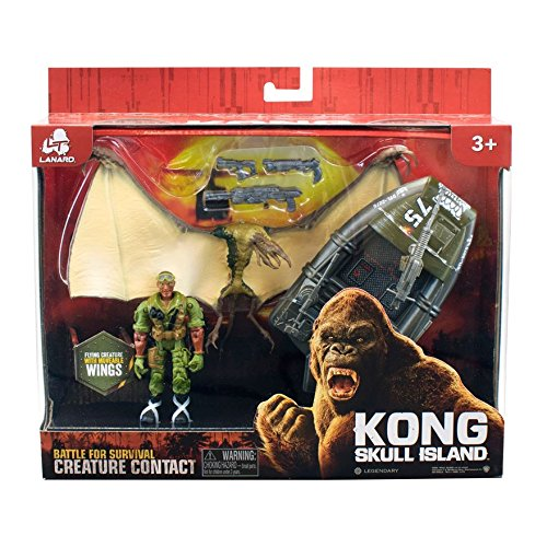 Preisvergleich Produktbild Kong Skull Island Pterodaktylus mit Boot & Figur