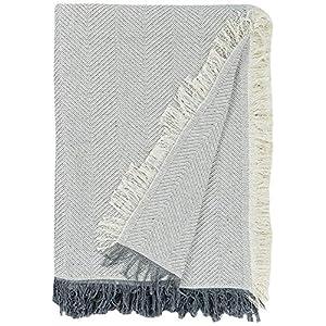 Martina Home, Espiga, Bettüberwurf, Mehrzweck/Plaid 230 x 260 cm rohes Grau