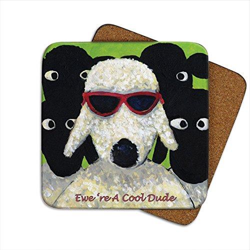 Ewe 're A Cool Dude Untersetzer von Thomas Joseph-Funny Schaf