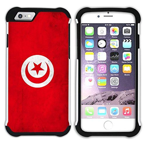 Graphic4You Vintage Uralt Flagge Von Turkey Türkisch Design Hart + Weiche Kratzfeste Hülle Case Schale Tasche Schutzhülle für Apple iPhone 6 Plus / 6S Plus Tunesien Tunesische