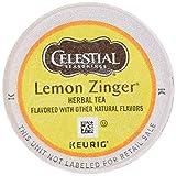 Celestial Seasonings Lemon Zinger Herbal Tea, K-Cup Portion Pack for Keurig K-Cup Brewers